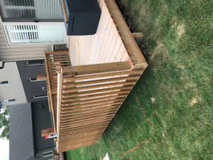 Brand new 36' of wood deck railing assembled and ready
