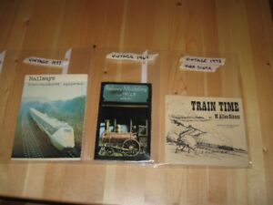 TRAIN BOOKS / BOOKLETS - VINTAGE COPIES - REDUCED!!!
