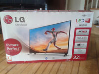 Unopened 32-inch LG TV and used PS3