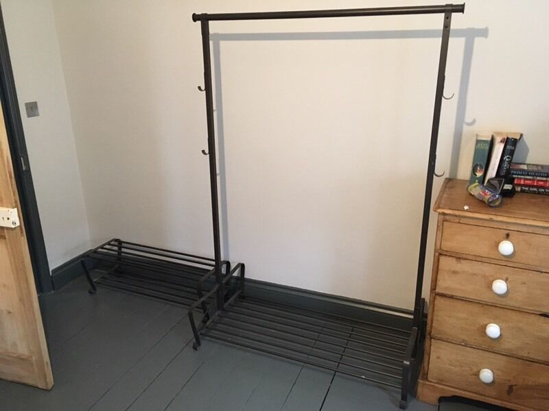 ikea portis clothes rail and 2 x portis shoe racks in. Black Bedroom Furniture Sets. Home Design Ideas