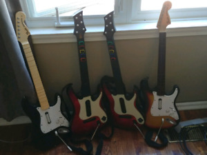 4 Ps3 guitars (only 1 dongle)