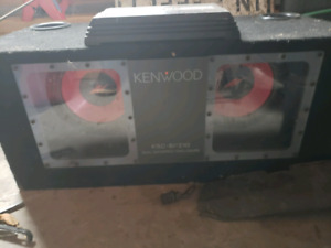 "2 10"" kenwood subwoofers in ported box with 251watt amp"