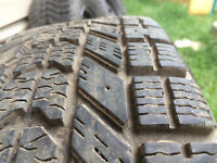 Set of 4 Firestone Winterforce Tires on Silver Rims ALMOST NEW!