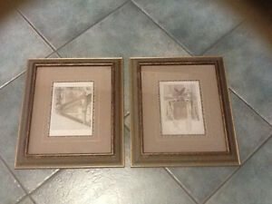 Pair of framed prints of Le Nouvel Opera de Paris London Ontario image 1