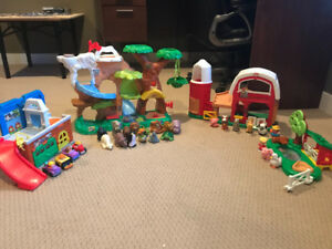 Little people play sets.