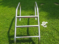 Stainless Steel In Ground Pool Step Ladder (Only 1 Available)