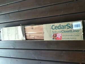 Box of natural cedar closet liner