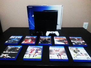 Selling Mint PS4 Plus 9 Games, 2 Controllers $250