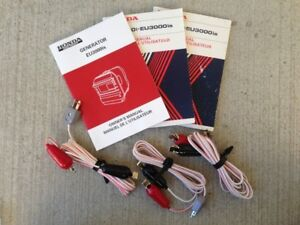 3 HONDA EU3000iS DC CHARGE CORD SETS & OWNER'S MANUALS