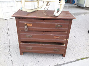 ANTIQUE  DRESSER 3 DRAWERS ONLY $45.00  OPEN TODAY
