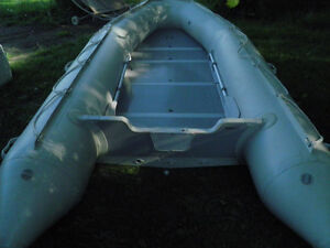 14 foot inflatable whit custom trailer