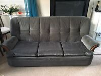3 seater sofa bed in grey