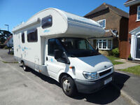 Rimor NG6 Ford 2.4 Diesel 7 Berth Family Motorhome with Bunk Beds, and 26k miles