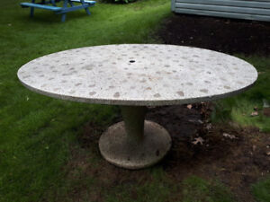 Custom made concrete /stone oval patio table