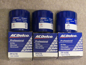 3 AC Delco Oil Filters - PF47E & PF48E