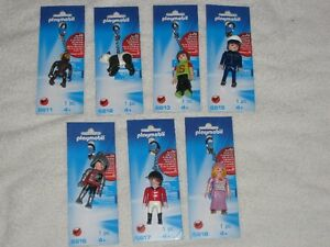 PLAYMOBIL KEYCHAINS - VARIOUS - BRANDNEW - CHECK IT OUT