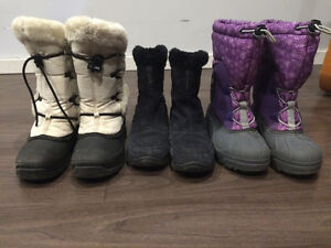 Youth size 5 winter name brand  boots and Columbia coat London Ontario image 2