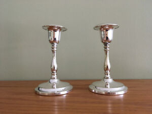 Vintage silver plated candle holders