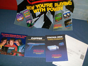 1988 NINTENDO INSTRUCTION BOOKLETS-CONTROL DECK-ZAPPER-POSTER!