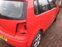 2005-2009 Volkswagen Polo breaking. Doors alloys, interior, engine
