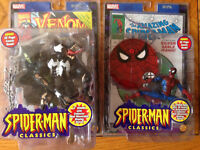 Spider-man and Venom Figures with comic book