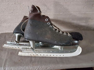 Antique Ice Skates with blade guards