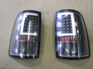Aftermarket used pair of Dodge Ram LED taillamps, fits 2013-17
