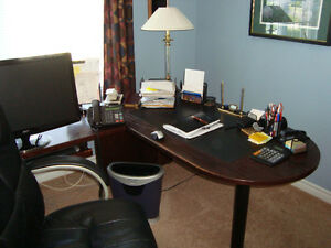 Solid Wood U Shape Office Furniture (Located in Trenton Ontario)