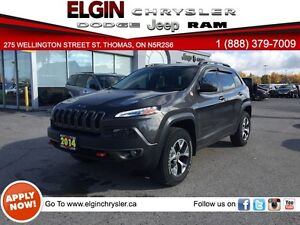 2014 Jeep Cherokee Trailhawk***Leather,Navi,B-up Cam***