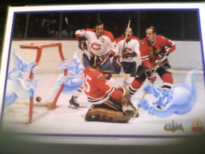 1996 MCDONALDS  MONTREAL FORUM GHOSTS VS BLACKHAWKS PLACEMAT