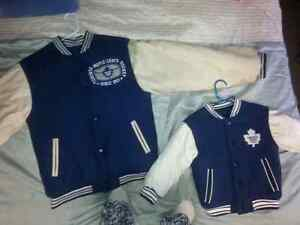 Pair of Maple Leafs Coats One Adult , One Child ! Cambridge Kitchener Area image 1