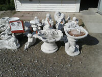 75% OFF CEMENT LAWN ORNAMENTS---CAMPEAU'S