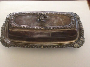 Antique Silver/Silver Plate butter dish