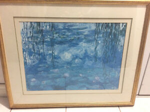 Nice Large Framed Abstract Oil Painting by Claire Aouit $Red'd