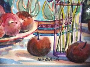"Morning Harvest, ""Apples on a Large Plate"" by Nell LaMarsh, 1994 Stratford Kitchener Area image 6"