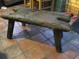 Solid wood stool oak