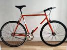NO LOGO Fixie Bike Single Speed *FULLY REFURBISHED* 58cm Steel Frame