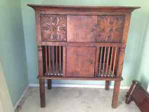 Antique teak chicken coop/rice cabinet