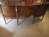 Solid Mahogany Sideboard with Drawers + Cupboards - CAN DELIVER