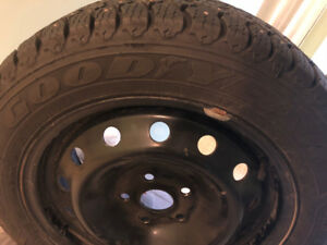 Studded Winter Tires on Volkswagen rims