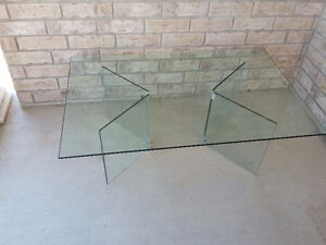 Large Bevelled glass top and base coffee table London Ontario image 2