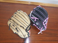 Baseball gloves for boy and girl
