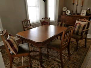 Refinished Vintage Mahogany Dining Table
