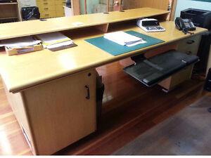 Desk - Custom Built 6' Oak