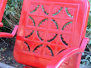 mid century chairs, outdoor furniture, vintage metal chairs, London Ontario image 6