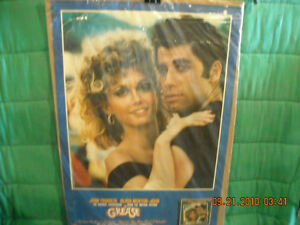 Grease Movie Poster with John Travolta & Olivia Newton-John Peterborough Peterborough Area image 1