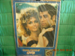 Grease Movie Poster with John Travolta & Olivia Newton-John