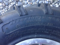 Rims and tires set of four