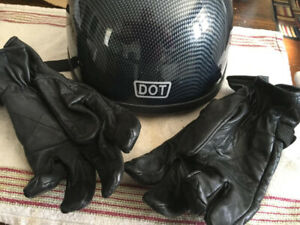 Motorcycle Helmet Gloves and Jacket
