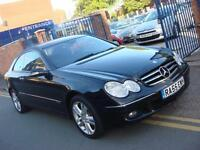 2005 55 PLATE Mercedes-Benz CLK220 2.2TD CDI Avantgarde Auto in Black